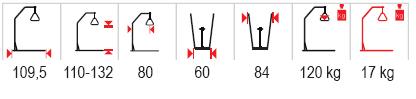 technické parametry samostojná hrazda